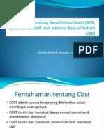 Pemahaman Tentang Benefit Cost Ratio2 (BCR)