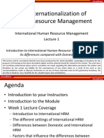 Lecture 1 - The Internationalization of HRM (Lecturer) 141123