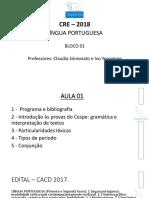 Português Aula 01 Apresentação