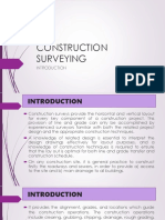 IV. Construction Surveys