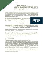 Revised Rules on Summary Procedure and Judicial Affidavit Rule