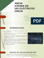 Resonancia Subsincrona en Sistemas Eléctricos de Potencia .