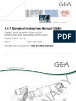 1.4.7 Standard Instruction Manual (O+M)