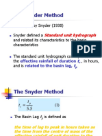 6 Hydrograph Corrected Snyder's UH