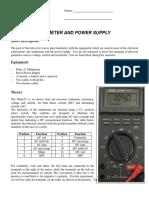 Multimeter PowerSupply LAB