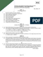 15A04602 Electronic Measurements & Instrumentation