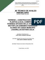 Informe Técnico de Avlúo Inmobiliario Abril 2019