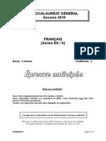Français ES S G1