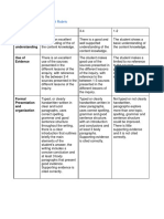 Summative Assessment Rubric