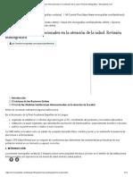 Los Organismos Internacionales en La Atención de La Salud. Revisión Bibliográfica