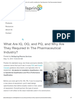 What Are IQ, OQ, And PQ, And Why Are They Required in the Pharmaceutical Industry