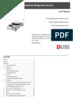 User Manual_5'' Round (Hotplate) Magnetic Stirrer.pdf