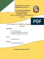 Los Gerentes y El Ambiente Organizacional y Natural