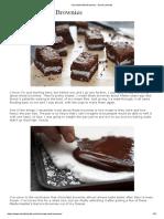 Recette Chocolate Mint Brownies - David Lebovitz