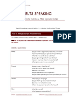 IELTS Speaking Topics