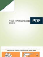 Proceso de Fabricacion de Bloquetas de Concreto