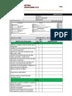 Preoperacional Inspección Diaria Cargador Frontal