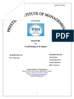 A Project on Credit-Rating & Its Impact-Total 32 Pages