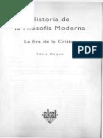 T8 (2019) DUQUE Félix_Historia de La Filosofía Moderna. La Era de La Crítica