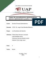 Clases de Procedimiento Administrativo , Silencio Administrativo Positivo y Negativo