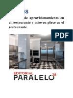 UF0258 sistemas de aprovisionamiento en el restaurante y mise en place en el restaurante