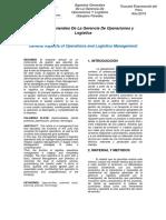 ARTICULO Del Seminario -Aspectos Generales de La Gerencia de Operaciones y Logística