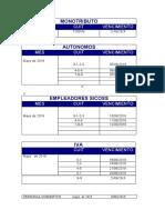 Calendario Impositivo - Junio 2019