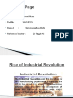 Rise of Industrial Revolution