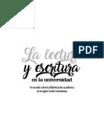 La Lectura y Escritura en La Universidad