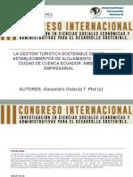 LA GESTION TURISTICA SOSTENIBLE DE LOS HOTELES EN LA CIUDAD DE CUENCA ECUADOR