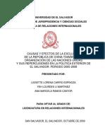 Causas y efectos de la exclusión de la República de China-Taiwán en la Organización de las Naciones Unidad y sus repercusiones en la política exterior de El Salvador Periodo 2005-2008.pdf