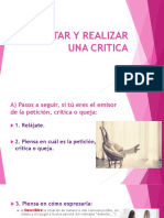 Aceptar y Realizar Una Critica Ppt