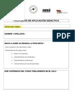 Documento Para La Realización de La Propuesta de Aplicación Didáctica Cursos