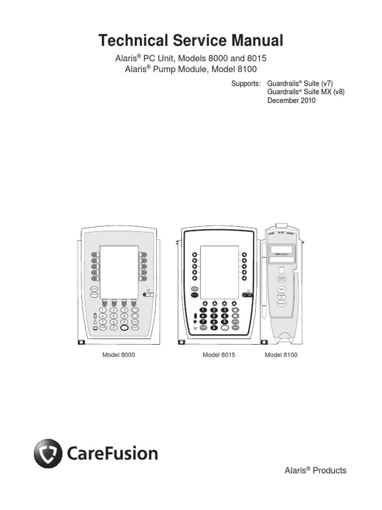 Alaris Pc 8000 And 8015 And Pump 8100 Service Manual 1 Manual Guide