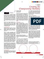 Championship Mentality