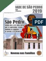 Novena de São Pedro Nas Famílias 2019