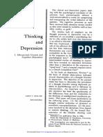 Pensamento e Depressão