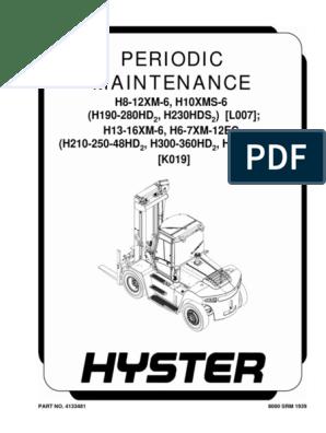 Hyster 360 Operator Manual