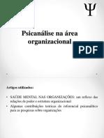 Psicanálise Na Área Organizacional (1)