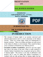 Aim of Criminal Justice System, Approaches to Sentencing, Principal Type of Sentences in Penal Code and Special Law Procedure for Sentencing