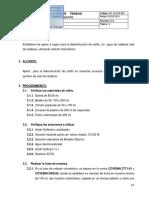 Determinacion de Sulfito Metodo Volumetrico