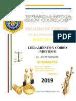 LIBRAMIENTO Y COBRO INDIVIDUO