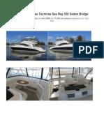 Especificaciones Técnicas KATTY GORICO Sea Ray 550 Sedan Bridge