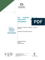 Uso Confiable de Informacion en Geodatabase