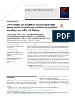 Development and validation of an instrument to assess Brazilian healthcare professional providers' knowledge on sickle cell disease.