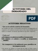 6 y 7. Las Actitudes Del Demandado