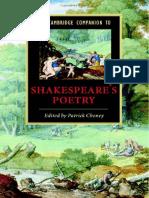 The Cambridge Companion to Shakespeares Poetry