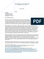 Treasury Dept letter to Grassley
