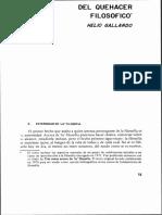 Gallardo, Helio; Gallardo Martínez, Helio - Del Quehacer Filosófico