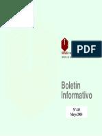 Boletin Informativo Mayo 2003